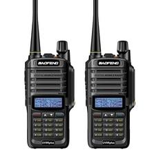 2pc long range  baofeng uv 9r plus waterproof walkie talkie with amateur cb radio car ham radio Station vhf uhf handy