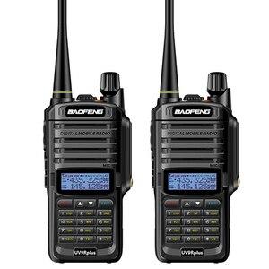 2pc long range baofeng uv-9r plus waterproof walkie talkie with amateur cb radio car ham radio Station vhf uhf handy