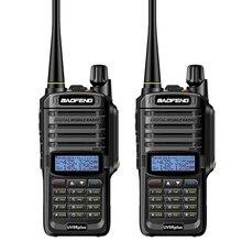 2pc longue portée baofeng uv 9r plus étanche talkie walkie avec amateur radio voiture jambon radio vhf uhf pratique