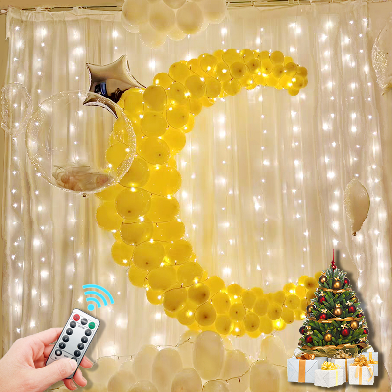 Светодиодный занавес свет Usb светодиодная гирлянда украшения на Рамадан салон эстетическое номер Декор для свадьбы Новый год праздник Рожд...