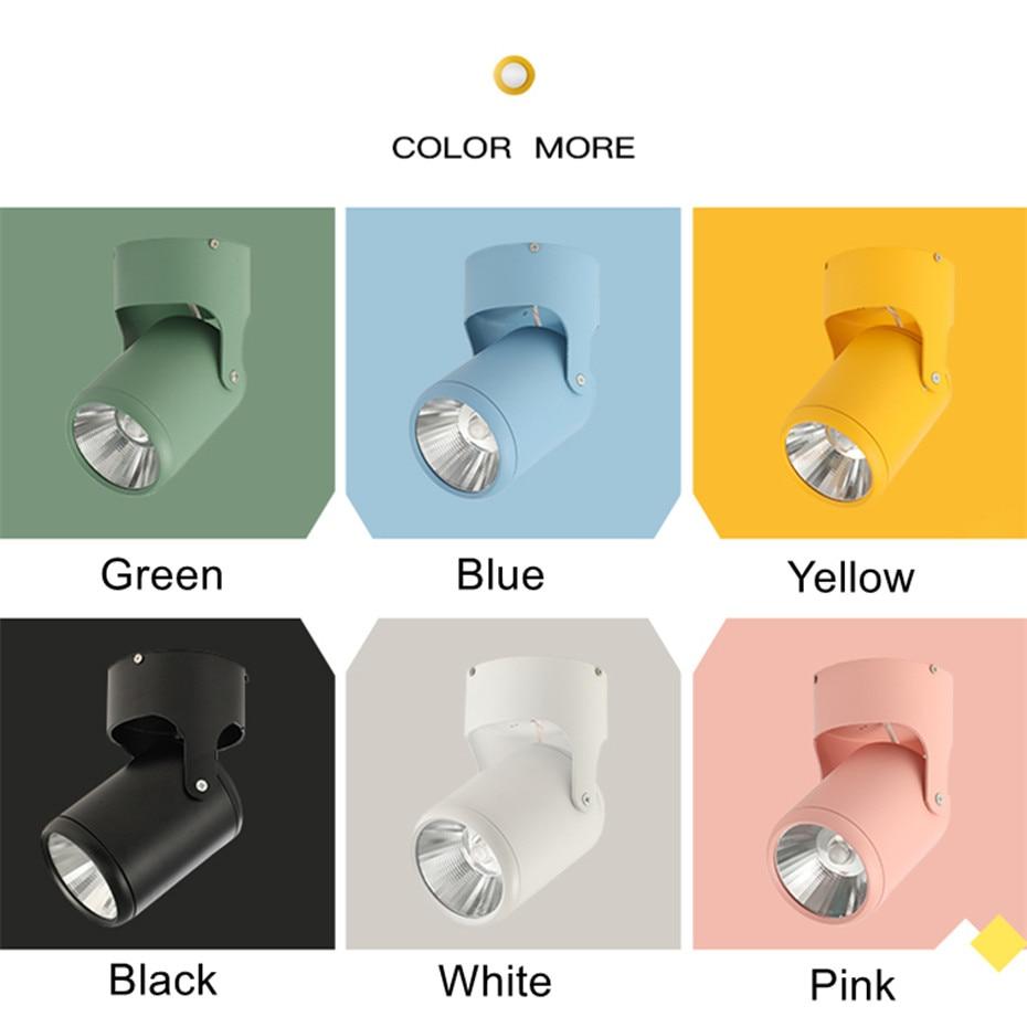 lâmpada do teto colorido led ponto 7