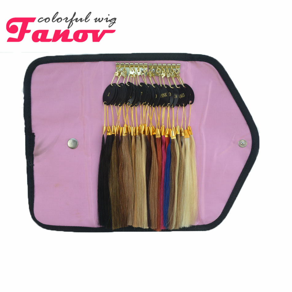 Human Hair Color Ring 32 pcs Color Ring Human Hair Color Ring For All Kinds of Hair Extensions Color Chart