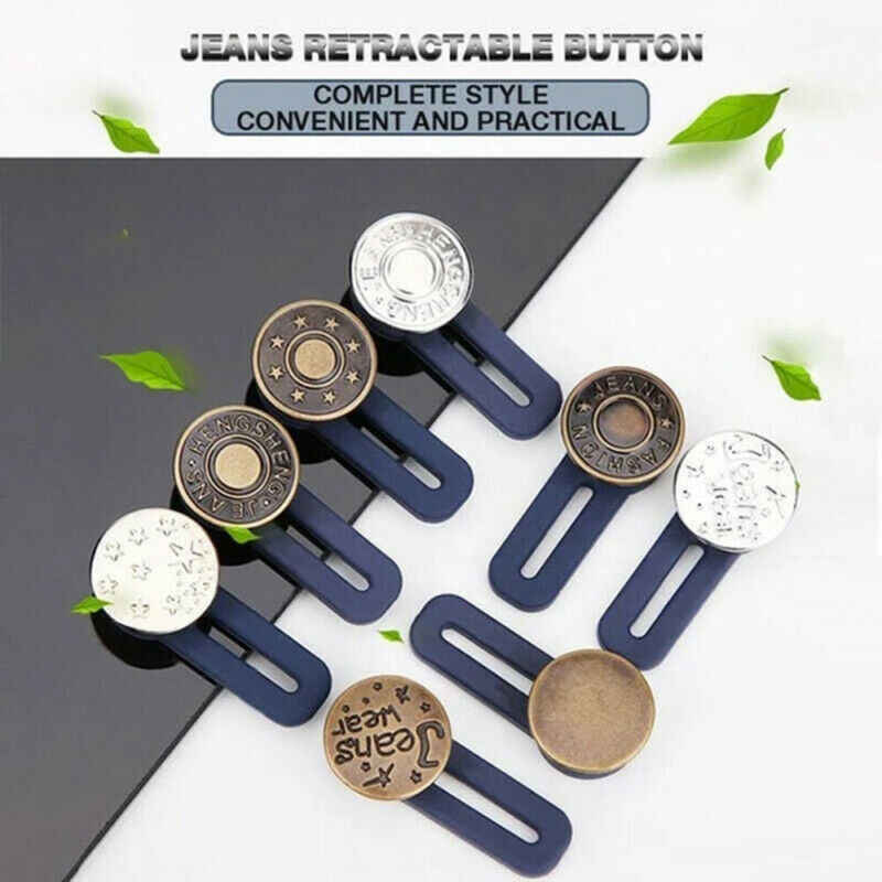 Regulowany demontaż chowany dżinsy talia rozszerzenie przycisk metalowe guziki na literę darmowe guziki jokery zwiększ talię