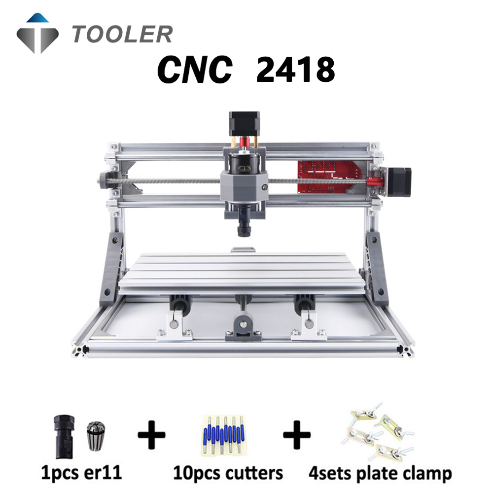 CNC 2418 With ER11,diy Mini Cnc Laser Engraving Machine,Pcb Milling Machine,Wood Carving Machine,cnc Router,cnc2418,toys
