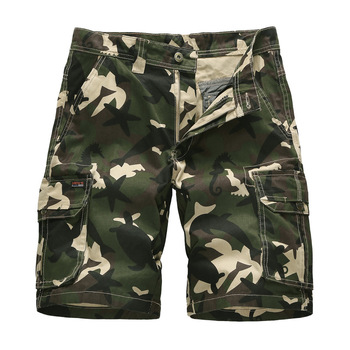 Camouflage Cargo Shorts Mens Overalls Multi-pocket Summer Loose Casual Camo Military Men Short Pants