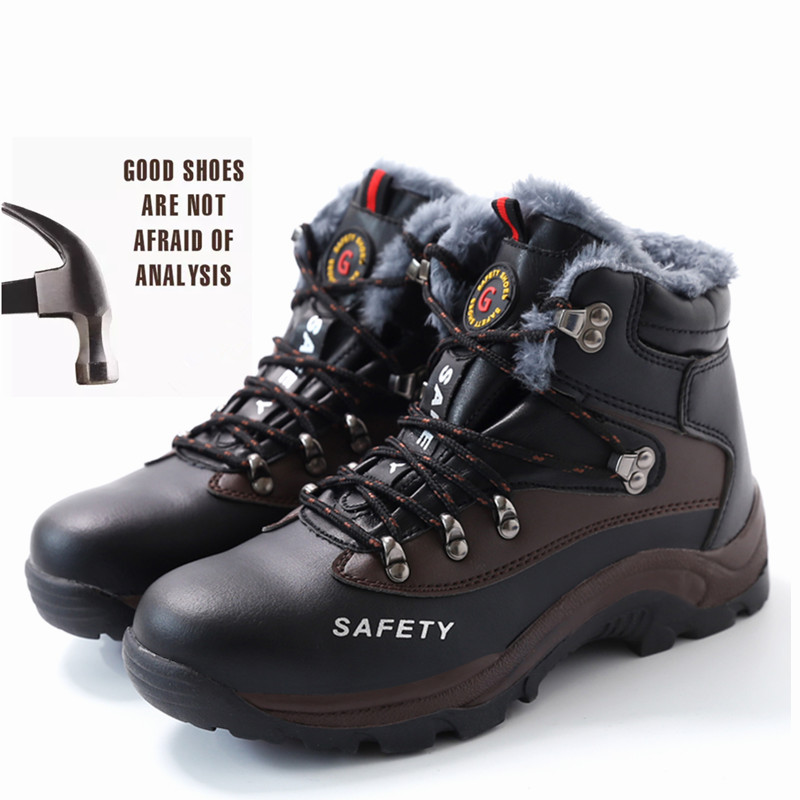 Men Safety Boots Steel Toe Shoes Men Industrial & Construction Outdoors Man Work Boots Shoes Anti-piercing Protection