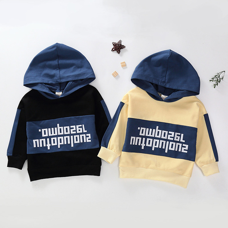 Sweater Clothing Hooded Letters Printed Autumn Cotton Children's Cartoon Small New And