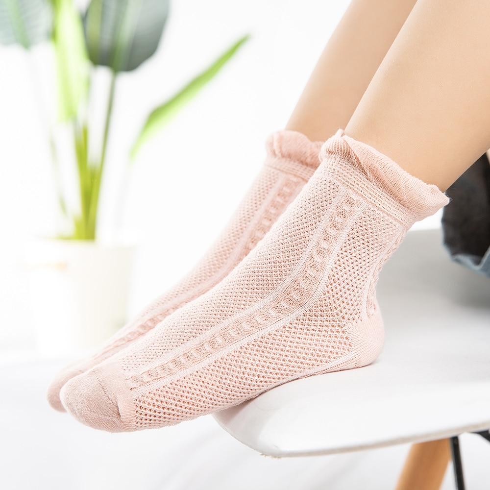 5Pairs/lot 2-9Y Baby Socks Summer Cotton Jacquard Thin Kids Socks Solid Colorful Girls Mesh Cute Newborn Boy Toddler Socks Baby 3