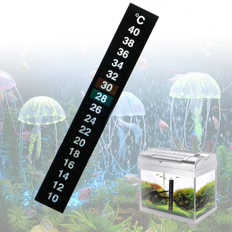 10-40 Degrees Stick-on Digital Aquarium Fish Tank Fridge Thermometer Sticker Measurement Stickers Temperature Control Tools