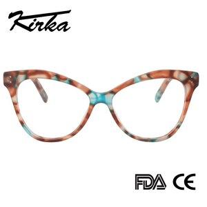 Image 3 - Kirka Women Optical Glasses Frame Cat Eye Eyeglasses Frame Reading Glasses Eyewear Accessories Women Eyewear Frame Myopia