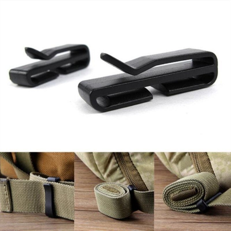 2PCS Molle Belt Clip Webbing Backpack Strap Quickdraw Clasp Outdoor Carabiner Camp Water Bottle Hanger Tactical Holder Hook