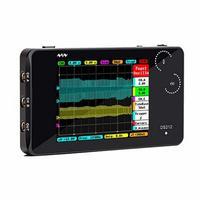 Ds212 handheld usb osciloscópio de armazenamento digital mini dso escopo medidor 2 ch 1 mhz bolso conjunto scopemeter automotivo|Medidor de frequência| |  -