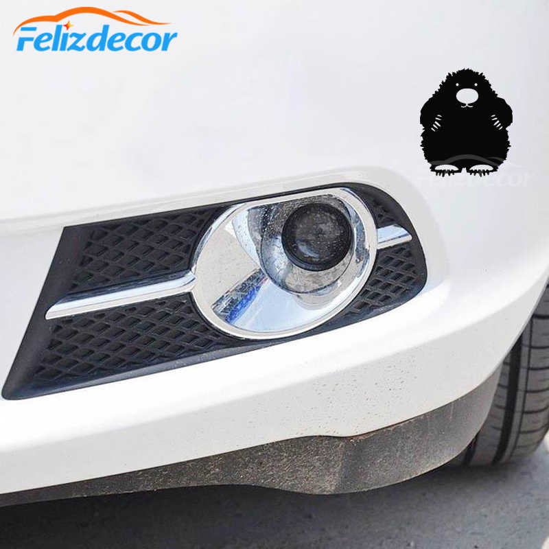 Fuzzy Mol Auto Sticker Achteruitkijkspiegel Decal Car Window Bumper Leuke Waterdicht Verwijderbare ZP0616
