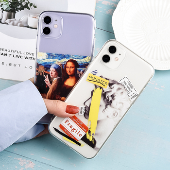 Funny Cartoon Silicone Shell For iPhone SE 2020 Cover Coque 11 Pro Max TPU Soft Capa 7 8 Plus X XS XR Protective Case Shockproof image
