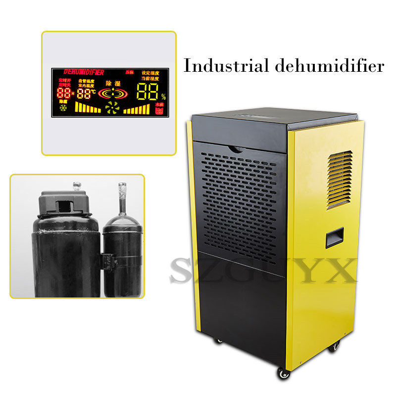 High-power Industrial Dehumidifier Basement Dryer Home Garage Dehumidifier Warehouse Commercial Dehumidification