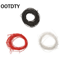 цена на OOTDTY 20M 22 AWG Cloth Single Coil Guitar Pickup Wire Parts Replacement Accessories suit for guitar