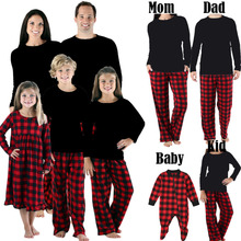 Christmas Family Matching Outfits New Children Adult Christmas Pajamas Sleepwear Nightwear Pyjamas Mommy and Me Outfits Clothes цена