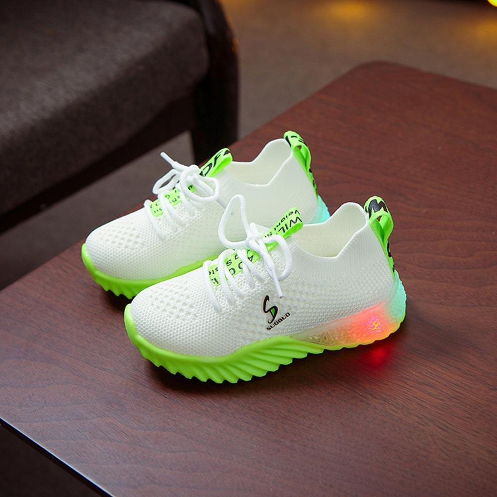 LED Breathable Knitted Sneakers 1
