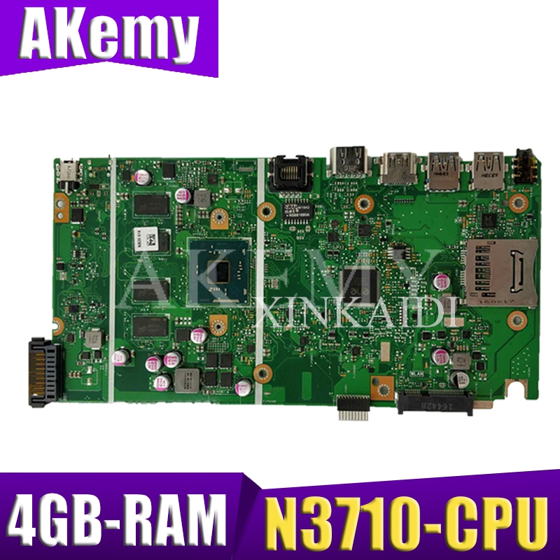 NEW! X541SA mainboard REV 2.0 For ASUS X541 X541S X541SA laptop motherboard Test ok N3710-CPU 4 Cores + 4GB-RAM