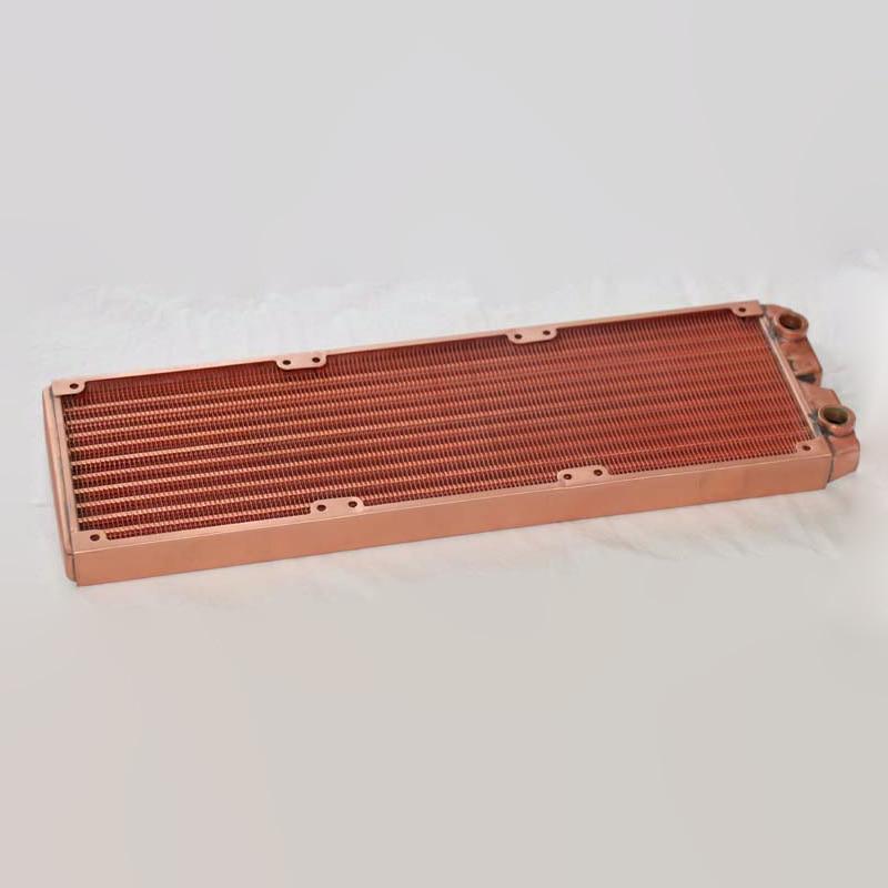 Ke Ruiwo Катюша серии 360 мм полностью красный медный радиатор водяного охлаждения подходит для вентиляторов 120 мм - Цвет лезвия: All copper