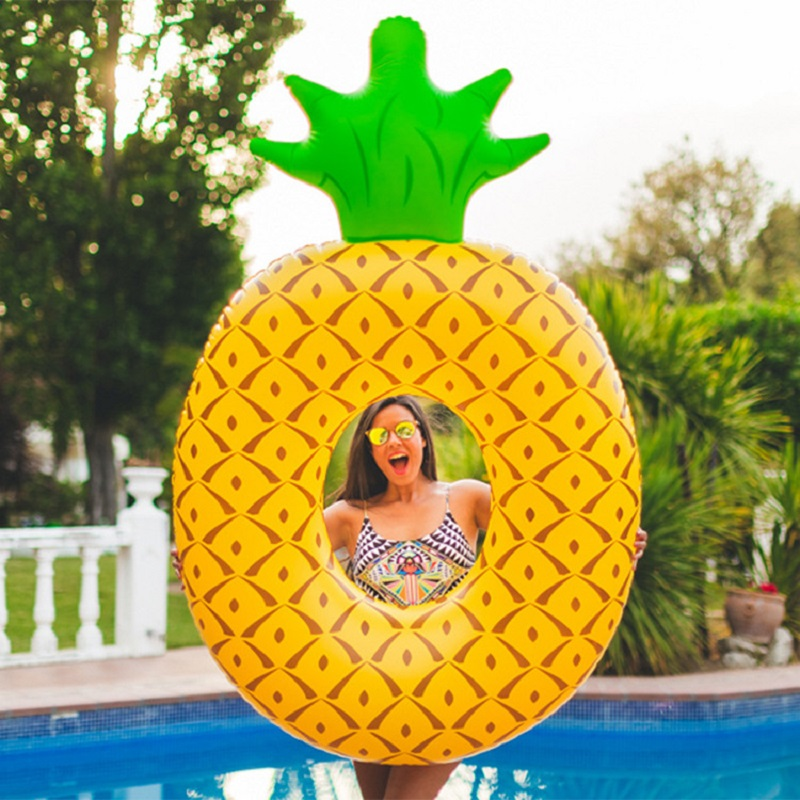 Rooxin Pineapple Pool Float Swimming Ring For Adult Inflatable Circle Floating Bed Water Baby Swimming Seat Summer Party Toys