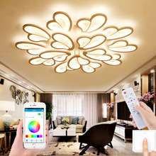 Factory direct modern LED ceiling lamp dimmable APP remote control lamp bedroom living room LED chandelier corridor villa lamp