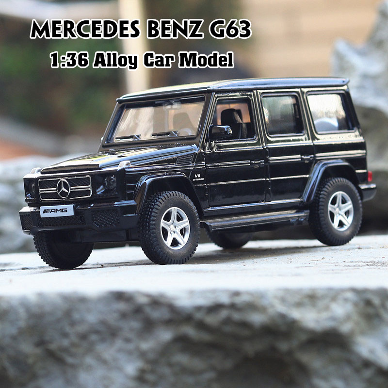1:36 Diecast Alloy Vehicle Car Toy Car Model Toys For Children Pull Back Model Boy Kids Gifts Door Open For Mercedes Benz G63