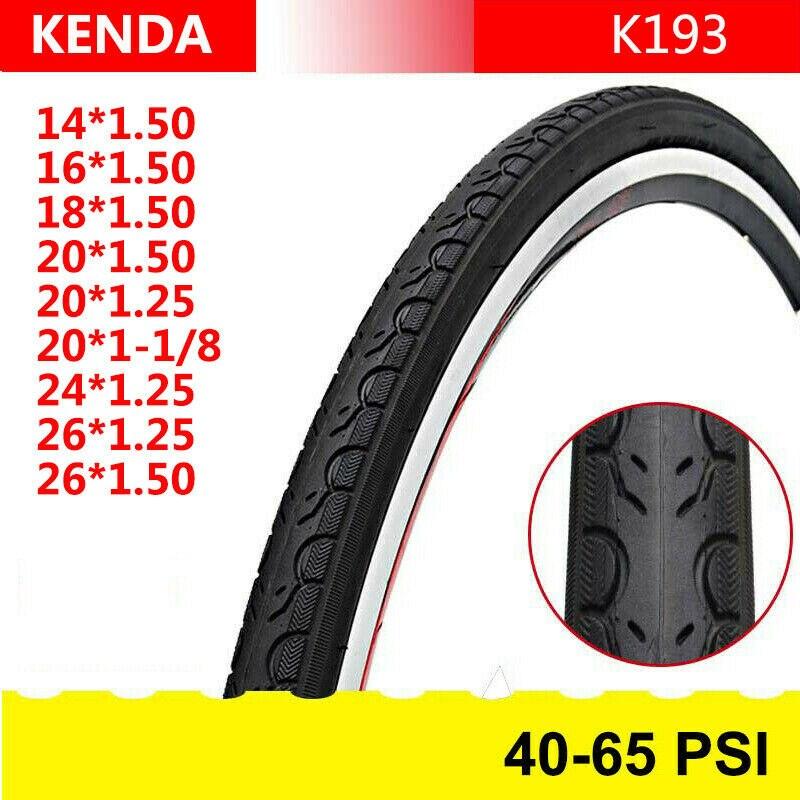 65PSI 14//16//18//20//24//26in*1.25//1.5 1-1//8 Clincher Tire MTB BMX Bike 1PC Tyres