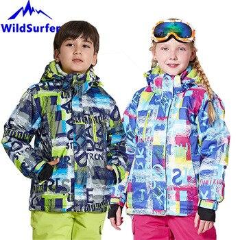 Children Warm Skiing Jackets Kids Ski Pants Snowboard Boys Girls Winter Ski Suit Waterproof Jacket Snow Thermal Overcoat W307