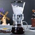 500ml Riutilizzabile Caffè filtro Ice Strumenti di Filtro di Vetro Caffettiere a filtro Per Caffè Espresso Caffè Dripper Pot Ghiaccio Birra Fredda macchina per il Caffè