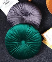 Almofada redonda do tatami do puff travesseiro almofadas do assoalho do assento de veludo almofada do descanso almofada do lance almofada decorativa do sofá para casa