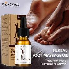 FirstSun yükseklik artış yağ durumu vücut büyümek bitkisel yatıştırıcı ayak kemik büyümesini teşvik masaj uçucu yağ ayak sağlık