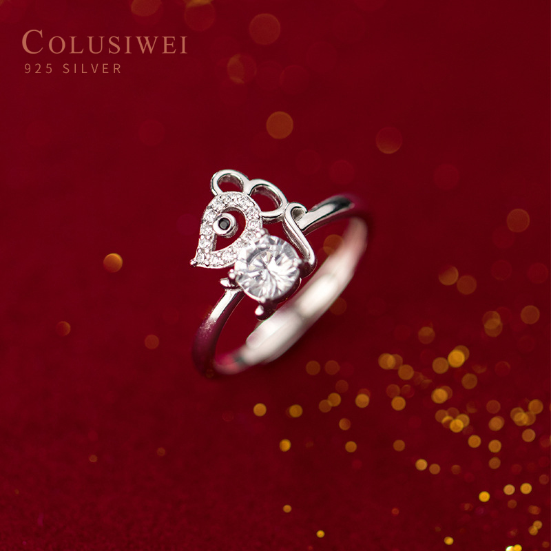COLUSIWEI Original Solid <font><b>925</b></font> <font><b>Silver</b></font> <font><b>Rings</b></font> <font><b>For</b></font> <font><b>Men</b></font> & Women New Design Fashion Engagement <font><b>Rings</b></font> Clear CZ Wedding <font><b>Rings</b></font> Gift image