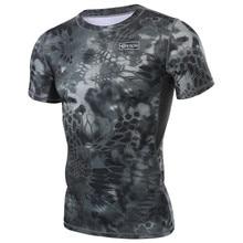 Уличная спортивная камуфляжная футболка для охоты, дышащая тактическая футболка, военная быстросохнущая футболка для кемпинга, велоспорта, бега, пешего туризма