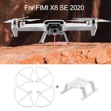 ل FIMI X8 SE 2020 الهبوط أطقم المروحة الحرس الإفراج السريع ارتفاع موسع طويل الساق حامي القدمين حامل اكسسوارات