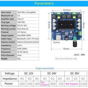 Image 3 - UNISIAN Bluetooth 5,0 TDA7498 Audio Power Verstärker bord 2x 100W Stereo Digital 2,0 kanal Amp Modul Unterstützung TF Karte AUX