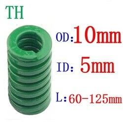 1 шт. зеленая пружина с большой нагрузкой, компрессионная пружина, штамповочная пружина, внешний диаметр 10 мм, внутренний диаметр 5 мм, длина ...