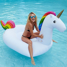 2M Unicorn Float Pool Inflatable Mattress Swimming Ring for Adult Kids Swimming Circle Floating Bed Beach Pool Party Toys