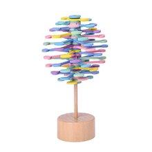 Вибрирующий звук с твердой древесины вращающийся леденец серии Фишер Креативные украшения декомпрессионная игрушка декомпрессия