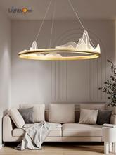 Postmodern light luxury circle pendant lamp living room villa duplex dining room bedroom designer pendant lights