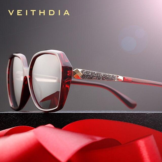 VEITHDIA TR90 kadın güneş gözlüğü polarize degrade Lens lüks bayan tasarımcı güneş gözlüğü gözlük kadınlar için 3161