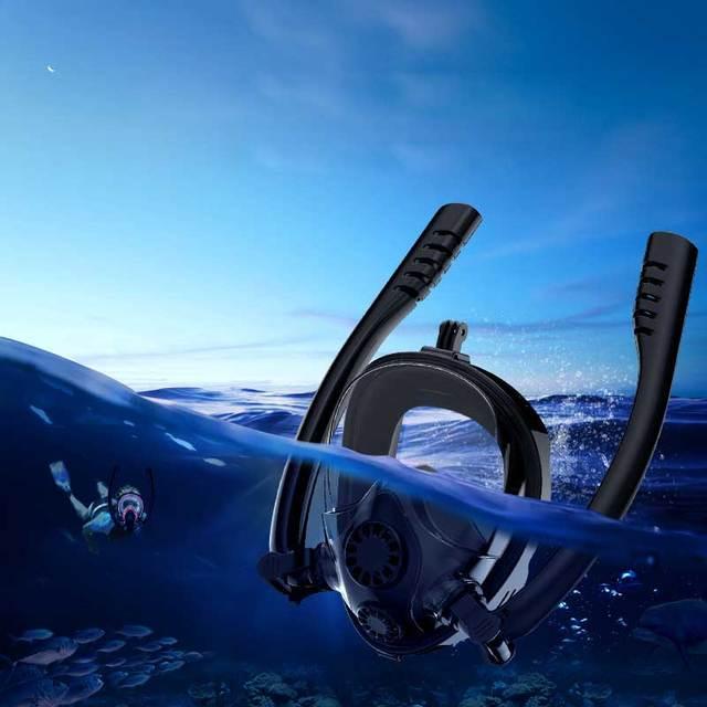 2019 New Diving Mask Snorkel Mask Underwater Anti Fog Full Face Snorkeling Mask Women Men Kids Swimming Scuba Diving Equipment