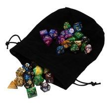 49pcs polyhedral dice dnd dice duplo cores dados com bolsa para masmorras e dragões dnd rpg mtg jogos d4 d6 d8 d10 d12 d20