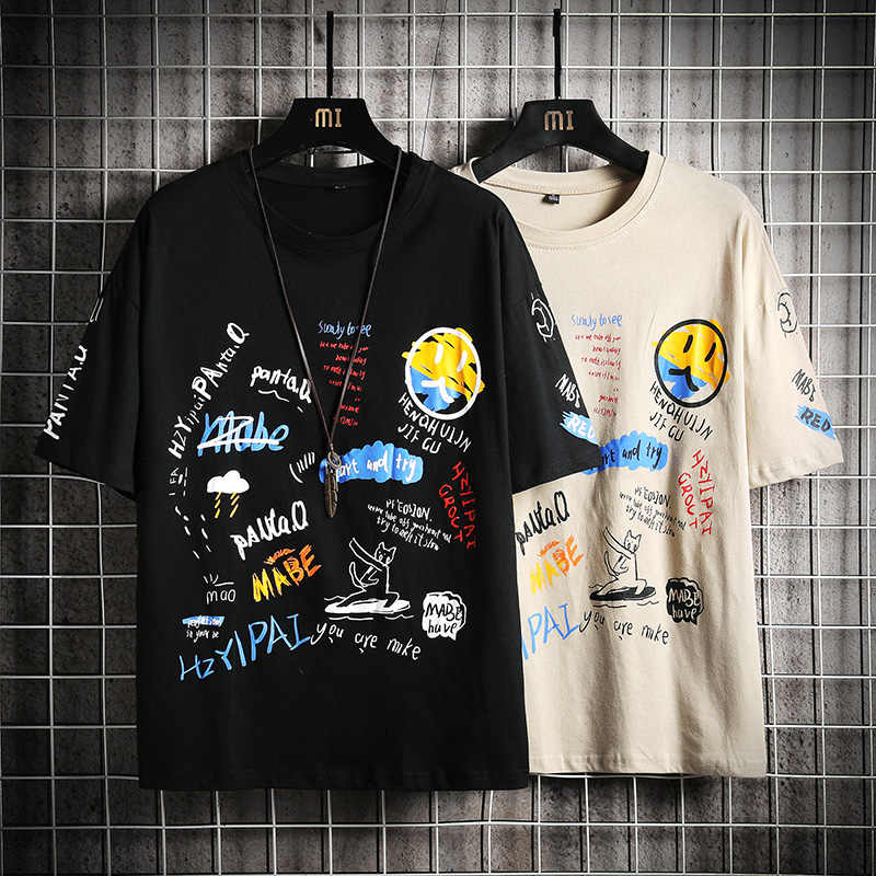 Manica corta T Degli Uomini Della Camicia 2020 di Estate di Alta Qualità Tshirt Top Magliette Modo di Marca di Stampa Più I Vestiti di Formato M-5XL