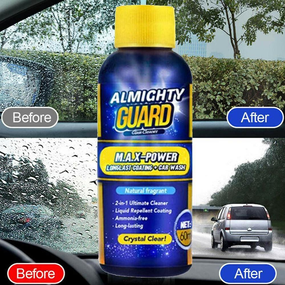 60ml Almighty Guard Car Glass Cleaner Multipurpose Stain Remover Solid Wiper Fine Seminoma For Window Cleaning Maintenance