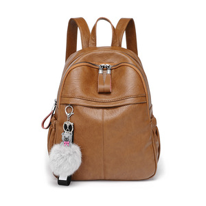Высококачественный кожаный женский рюкзак, модные школьные сумки для девочек-подростков, винтажные женские дорожные рюкзаки на одно плечо ...