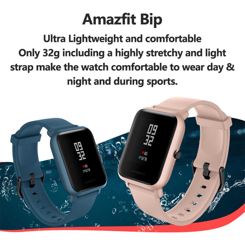Global Versi Asli Amazfit Bip Lite Smart Watch 45 Hari Daya Tahan Baterai 3ATM Tahan Air Smartwatch Xiaomi Smart tonton