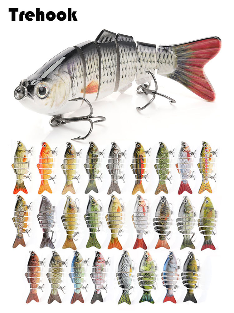 TREHOOK Wobblers Fishing-Lures Artificial-Bait Sinking Multi-Jointed Swimbait Hard Pike/bass