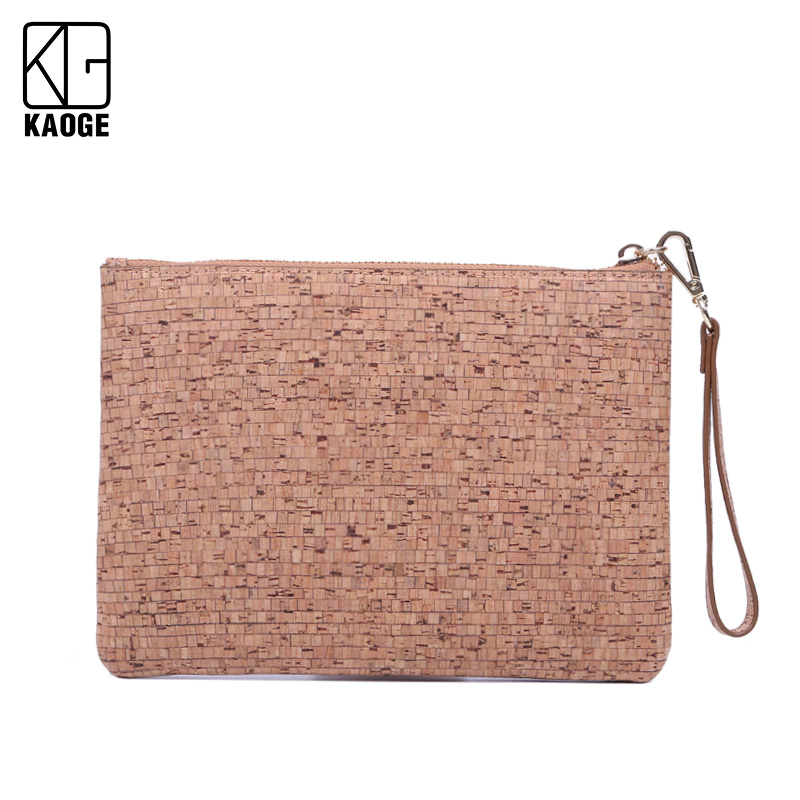 Natural Cork Envelope Bag From Portugal Female 2020 New Personalized Clutch Bag Wild
