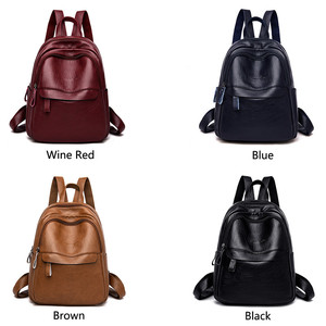 Image 4 - 2019 Female Leather Backpacks High Quality Ladies Bagpack Luxury Designer Large Capacity Casual Daypack Girl Mochilas Sac A Dos